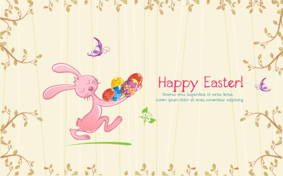 Background Vector Background Vector Colorful Background With Bunny 17 1 2012 112