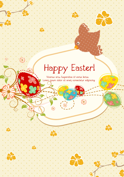 Creative, Vector Vector Illustration Vector Colorful Background With Eggs 17 1 2012 115