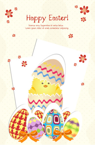 Vector Colorful Background With Eggs Vector Illustrations vector