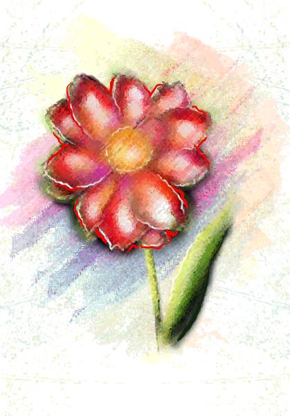 Vector, Background, Illustration, Vintage-2 Vector Artwork Watercolor Floral Background Vector Illustration 5