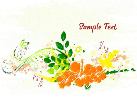 Vector Vector Background: Watercolor Floral Background Vector Background Illustration 17 2 2012 105