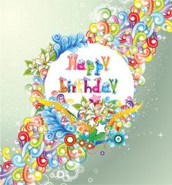 Vector Happy Birthday Illustration Vector Illustrations star