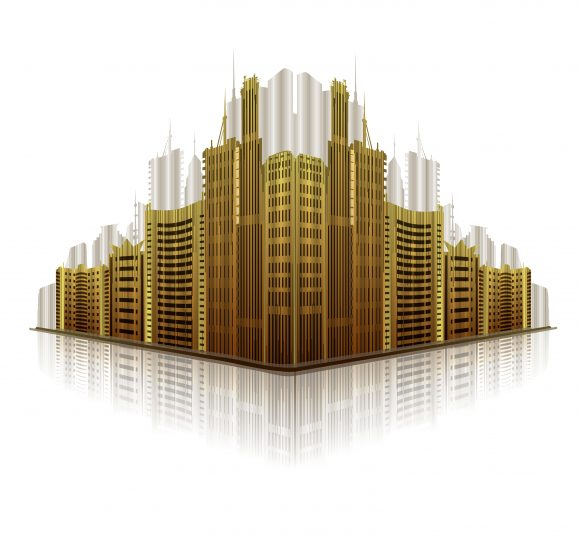 Illustration, Vector Vector Graphic Abstract City Vector Illustration 5