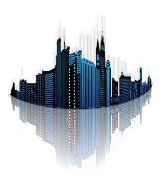 Abstract City Vector Illustration Vector Illustrations building