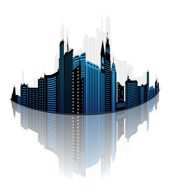 Amazing Tower Eps Vector: Abstract City Eps Vector Illustration 5