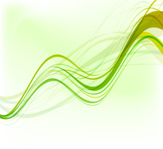 Vector Green Abstract Waves Background Vector Illustrations wave
