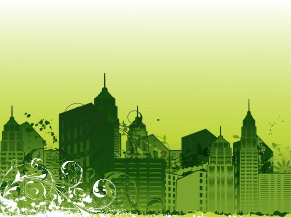 With, Grunge, Illustration, Rust Vector Graphic City With Grunge Vector Illustration 5