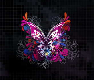 Vector Abstract Background With Butterfly Vector Illustrations vector