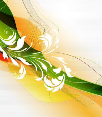 Vector Abstract Background With Floral Vector Illustrations wave