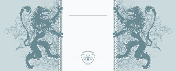 Vector Vintage Frame With Lions 18 03 2011 76