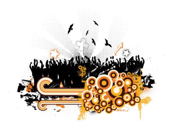 Amazing Illustration Vector Image: Grunge Retro Background Vector Image Illustration 1