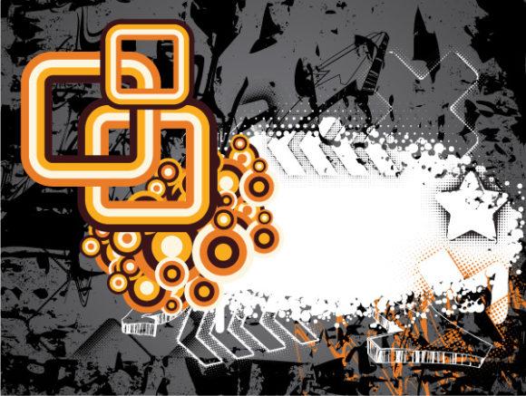 Old, Vector Vector Art Grunge Retro Background Vector Illustration 1