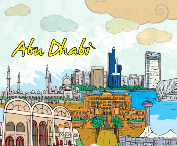 Dhabi, Cloud, Building Vector Graphic Abu Dhabi Doodles Vector Illustration 18 07 2011 64