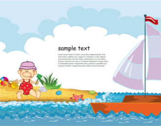 Summer Background Vector Illustration Vector Illustrations sea