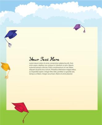 Graduation Hats Vector Background Vector Illustrations vector