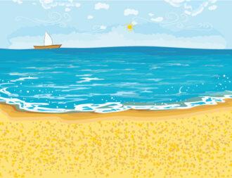 Summer Background Vector Illustration Vector Illustrations sea