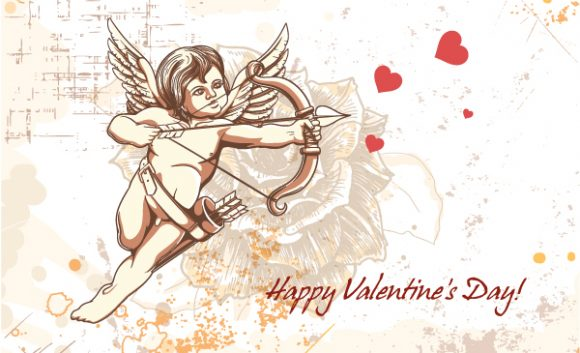 "Kid, Colorful, ""valentines"" Vector Illustration Valentines Day Vector Background 5"