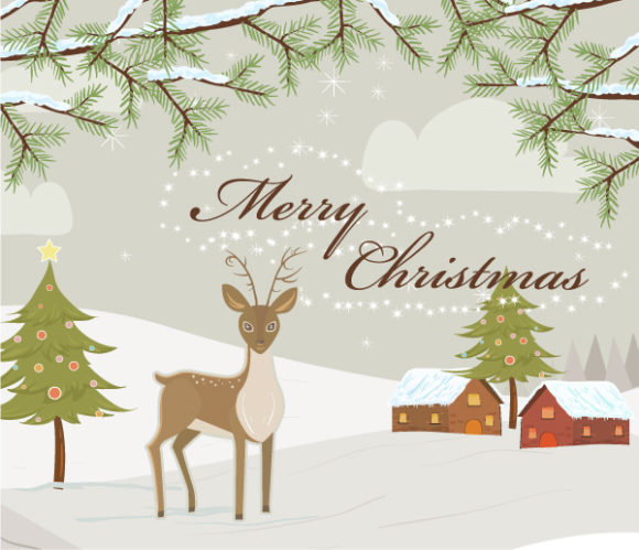 New Christmas Vector Art: Vector Art Christmas Greeting Card 18 11 2011 14