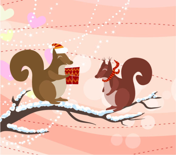 Surprising Christmas Vector Art: Vector Art Christmas Greeting Card 5