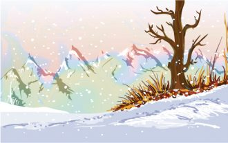 Winter Background Vector Illustration Vector Illustrations tree