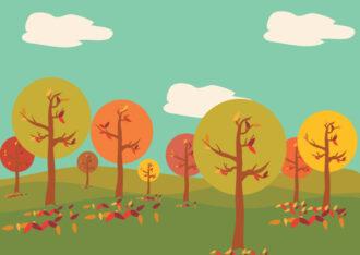 Abstract Trees Vector Illustration Vector Illustrations tree