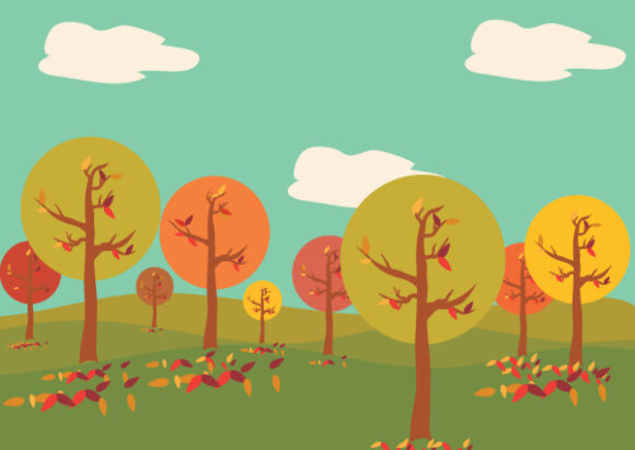 Abstract Trees Vector Illustration 18 8 2011 106