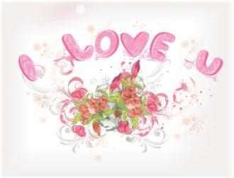 Valentine' Day Background Vector Illustration Vector Illustrations floral