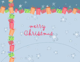 Vector Winter Background With Presents Vector Illustrations vector
