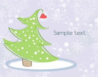Vector Winter Background With Tree Vector Illustrations tree