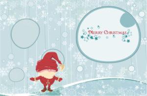 Vector Winter Background With Santa Vector Illustrations vector