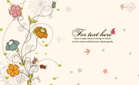 Illustration Vector Artwork Floral Background Vector Illustration 5