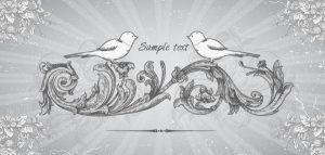Vector Vintage Background With Birds Vector Illustrations old