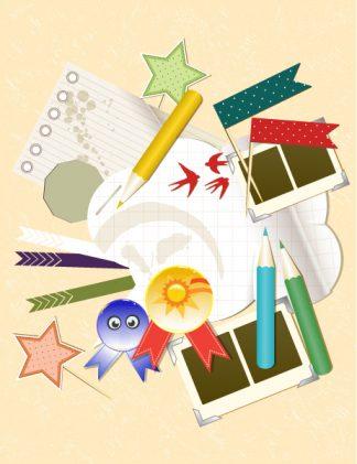 Cute Scrapbook Elements Vector Illustration Vector Illustrations star