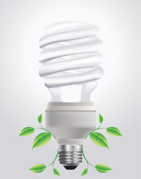 Lightbulb Vector Illustration Vector Energy Saving Lightbulb With Floral 2009 06 10 101