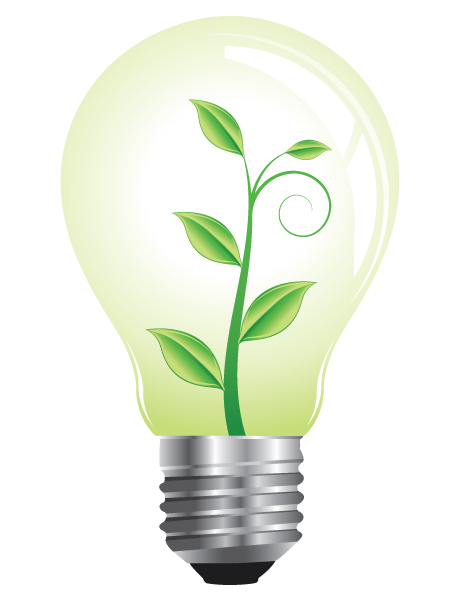 With Vector Artwork Vector Lightbulb With Floral 1