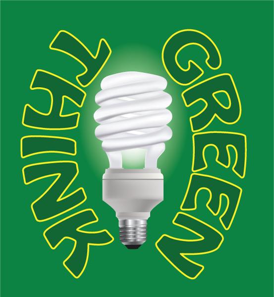 Awesome Science Vector Art: Vector Art Environmental Light Bulb 2009 06 27 1014