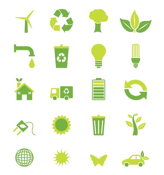 Amazing Environmental Vector Background: Vector Background Environmental Symbols 5