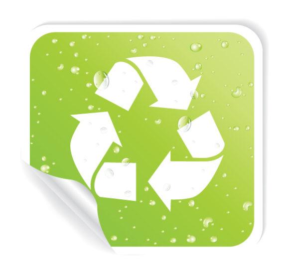 Label Vector Design: Vector Design Environmental Sticker 1
