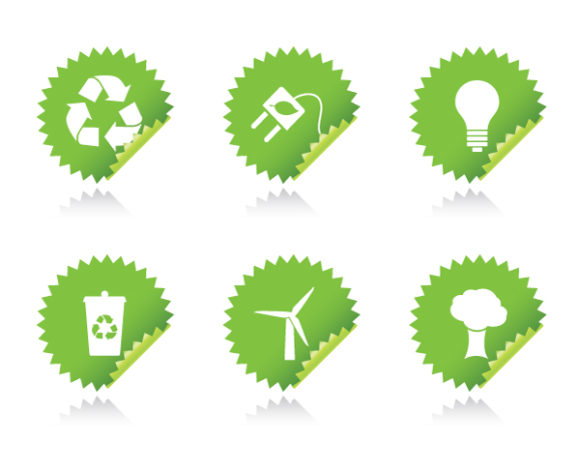 Stickers Vector Image Vector Environmental Stickers 5