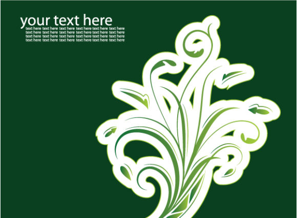 Lovely Eco Vector Art: Abstract Illustration Of A Business Card With Floral 2009 08 13 2009 08 12 8