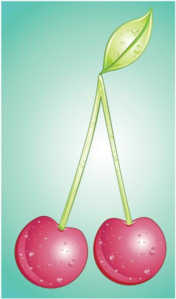New Clean Vector Background: Vector Background Cherries 1