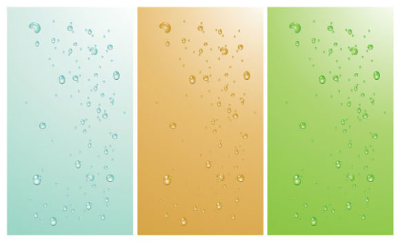 Striking Backgrounds Vector: Abstract Backgrounds With Bubbles 2009 10 24 9