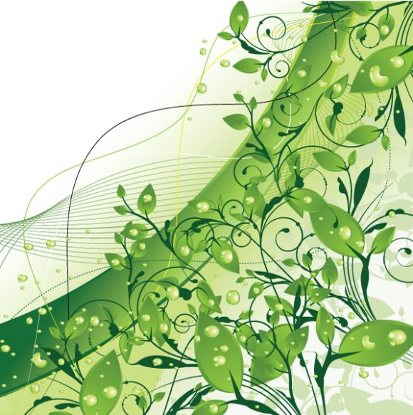Unique Background Vector Artwork: Abstract Background With Floral 1