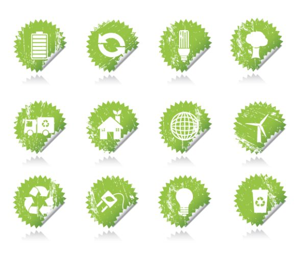 Eco, Vector Vector Graphic Vector Eco Sticker Set 2009 11 15 106