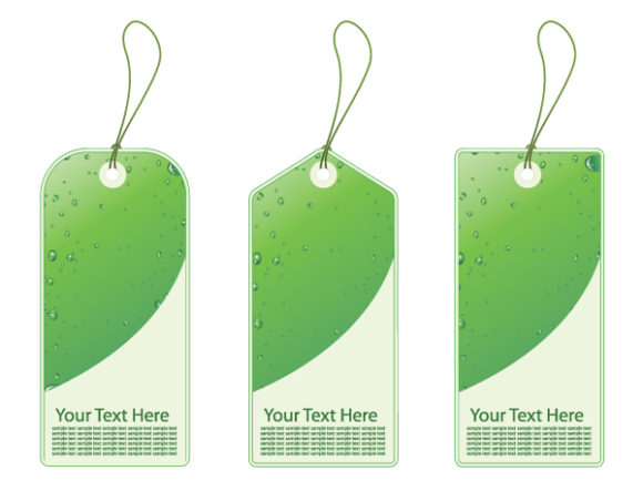 Download Shopping Vector: Green Shopping Tags 5