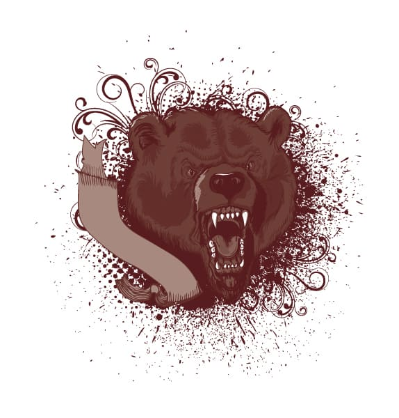 Insane Animal Vector Art: Vintage Tshirt Design 1
