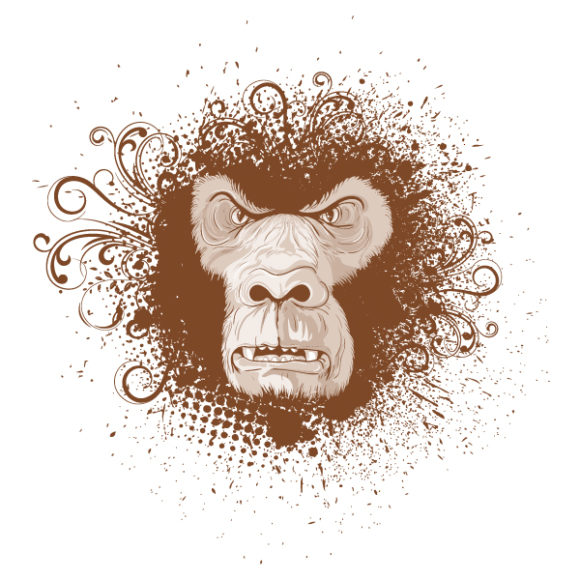 Animal Vector Artwork: Vintage Tshirt Design 1