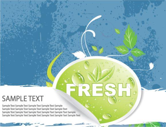 Gorgeous Creative Vector Design: Bio Sticker With Floral 2010 02 19 1014