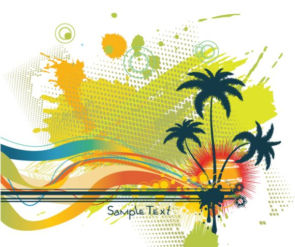 Summer Background With Palm Trees 2010 04 23 103