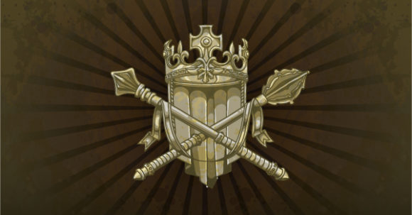 A, Shield, Crown, Scroll, Background Vector Image Vintage Shield On A Grunge Background 2010 04 23 104